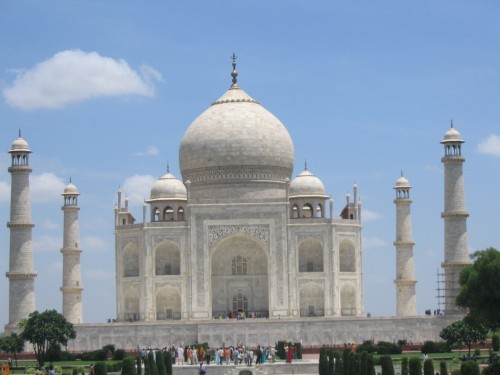 Traveling to Taj Mahal, India, One of the Seven Wonders of the World