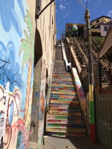 staircase in Valparaiso