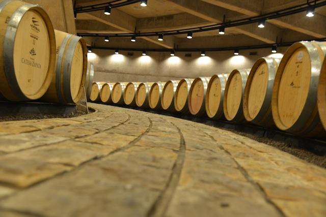 Barrels in Catena Zapata