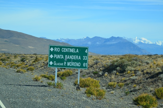 On our way from El Calafate to Perito Moreno