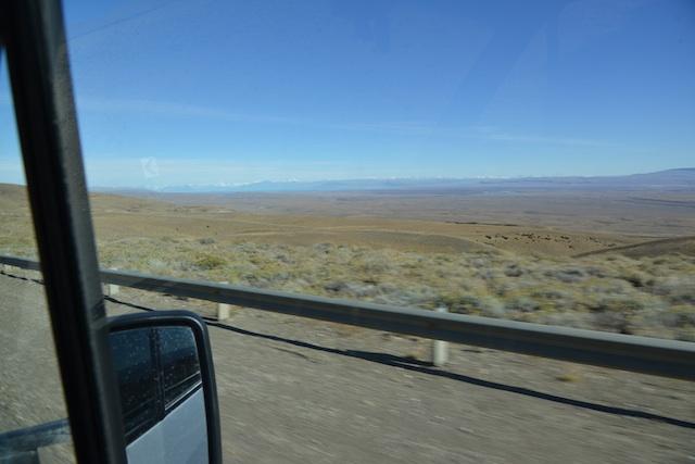 On the way from Puerto Natales to Perito Merino