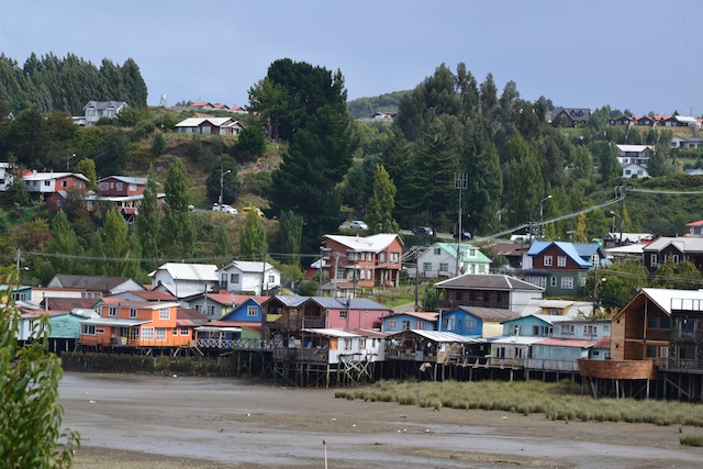 house on stilts in Chiloe