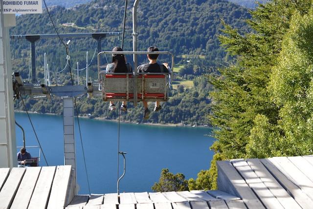 ski lift going down