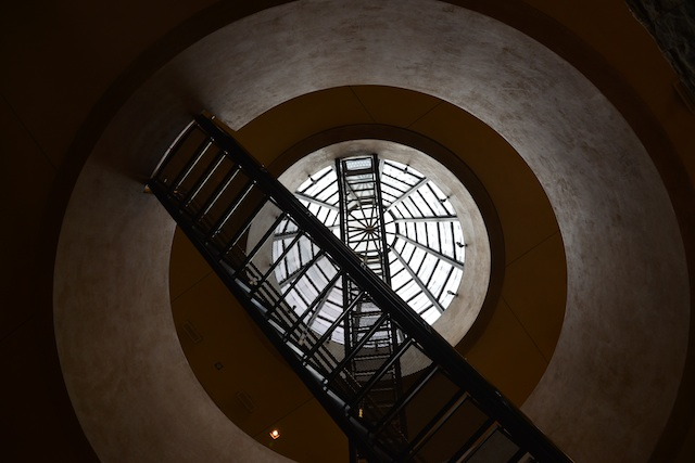 staircase to the top floor in catena zapata