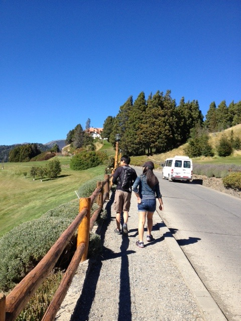 walking to Llao Llao