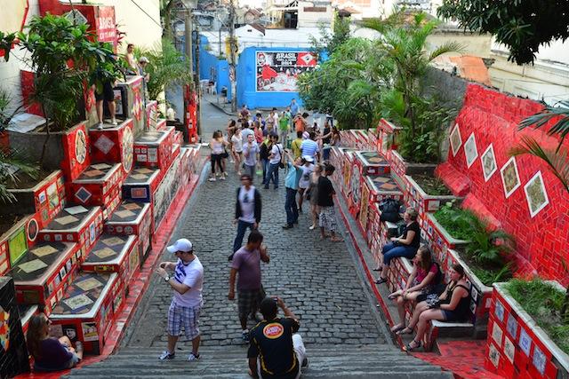 Images of Escalaria Selaron in Rio de Janeiro