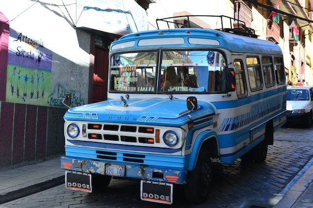 old bus in la paz bolivia