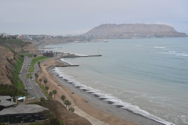View from Miraflores Larcomar Mall