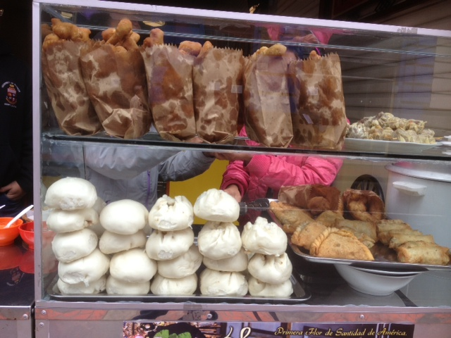 steamed buns and fried crullers in Lima Peru