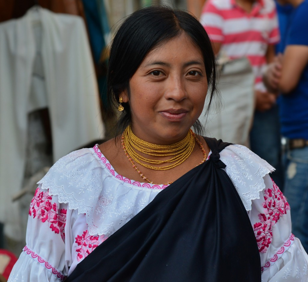 Quechua lady in Otavalo Ecuador