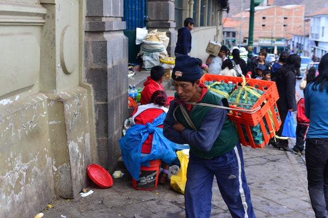 Street market Cusco Peru