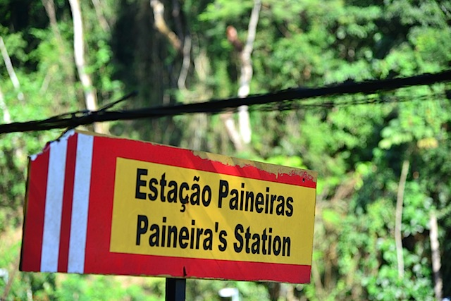A sign found on the way to  Christ the Redeemer