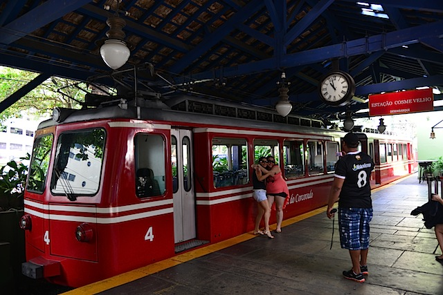 The train to Christ the Redeemer