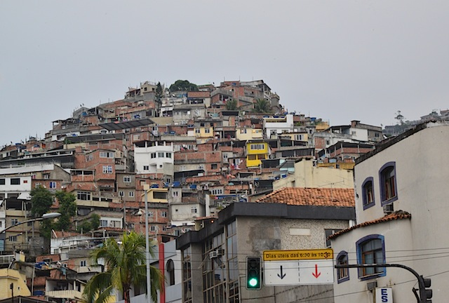 View of Rocinha from the bottom of the hill