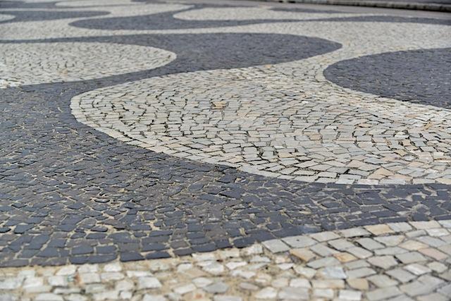 Calcadoes sidewalk as seen throughout Copacabana, Ipanema and Leblon.