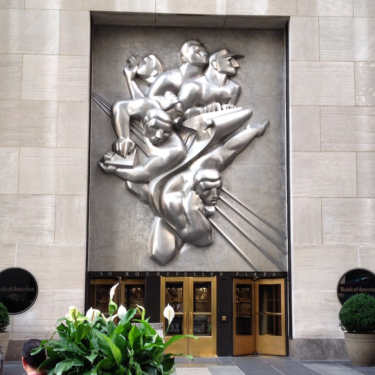 Noguchi's 1940 work at 50 Rockefeller Center.