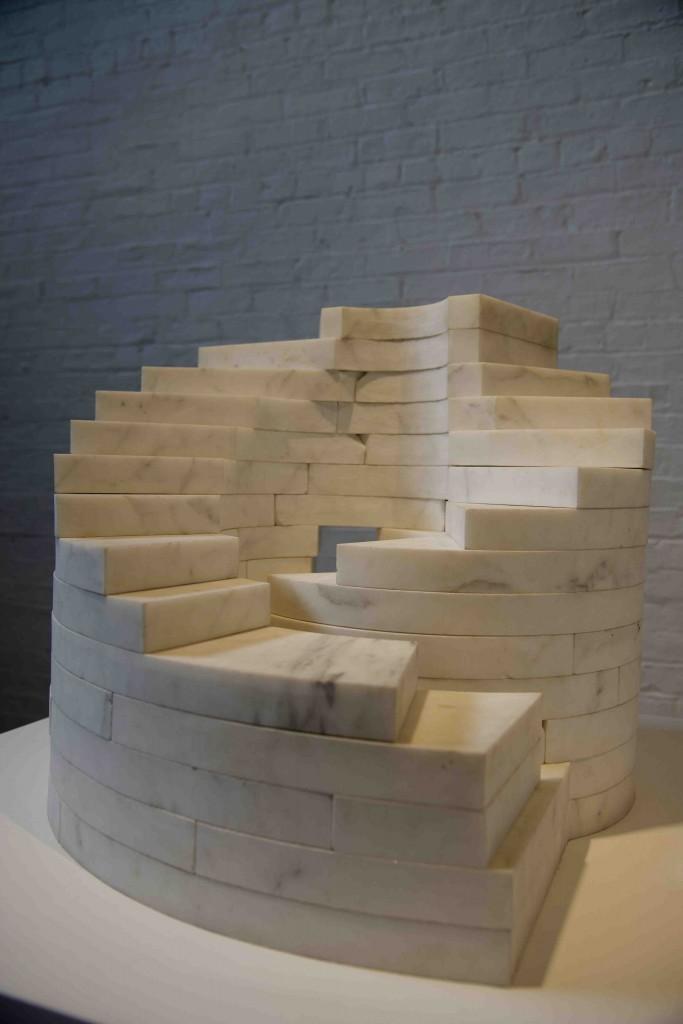 Study for Slide Mantra made of Carrara marble