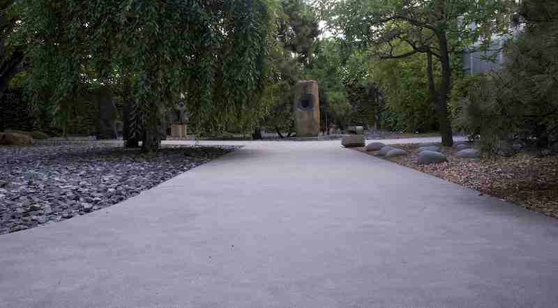 The Noguchi Garden in Long Island City.