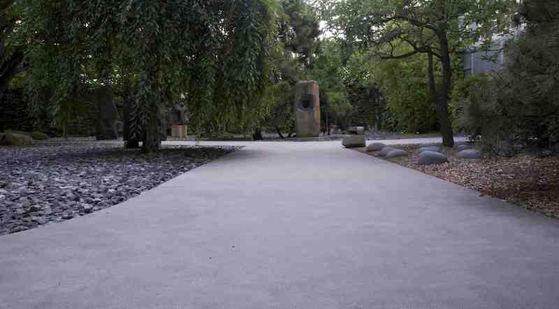 The Noguchi Garden in Long Island City.