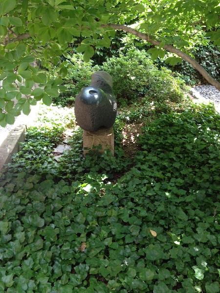 1973 granite garden sculpture named Uruguayan.
