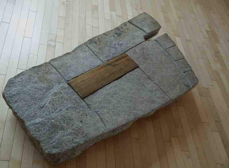 The Footstep, 1958, granite and pine