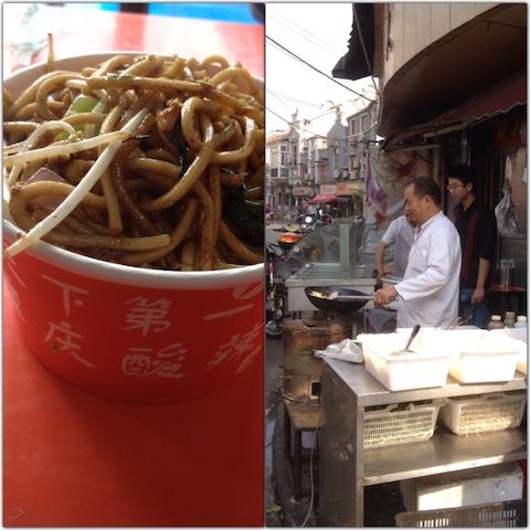 Fried noodles in Shanghai