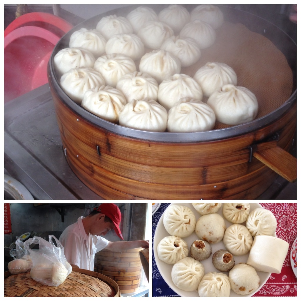 Baozi (pork steamed buns)
