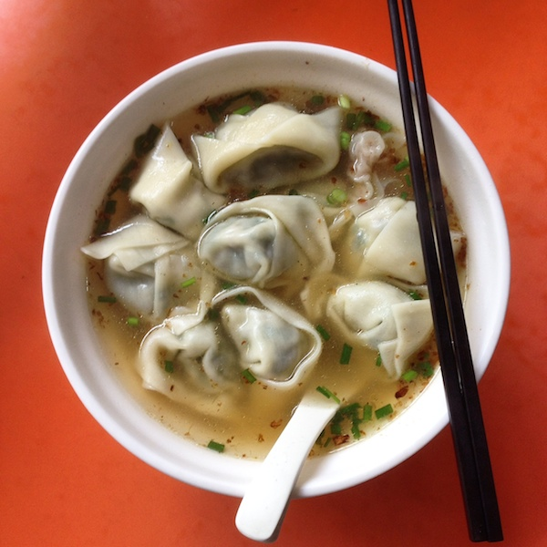 Vegetable dumplings in soup