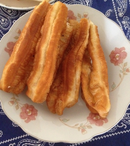 These youtiao were cut in halves