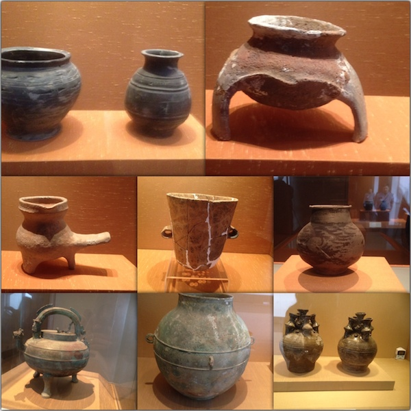 Pottery-  from Majiabang Culture from 7,000-6,000 B.C. and 5,000-4,000 B.C.
