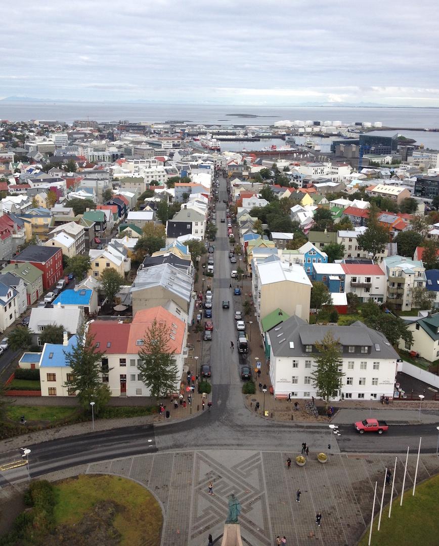 View from Hallgrímskirkja church