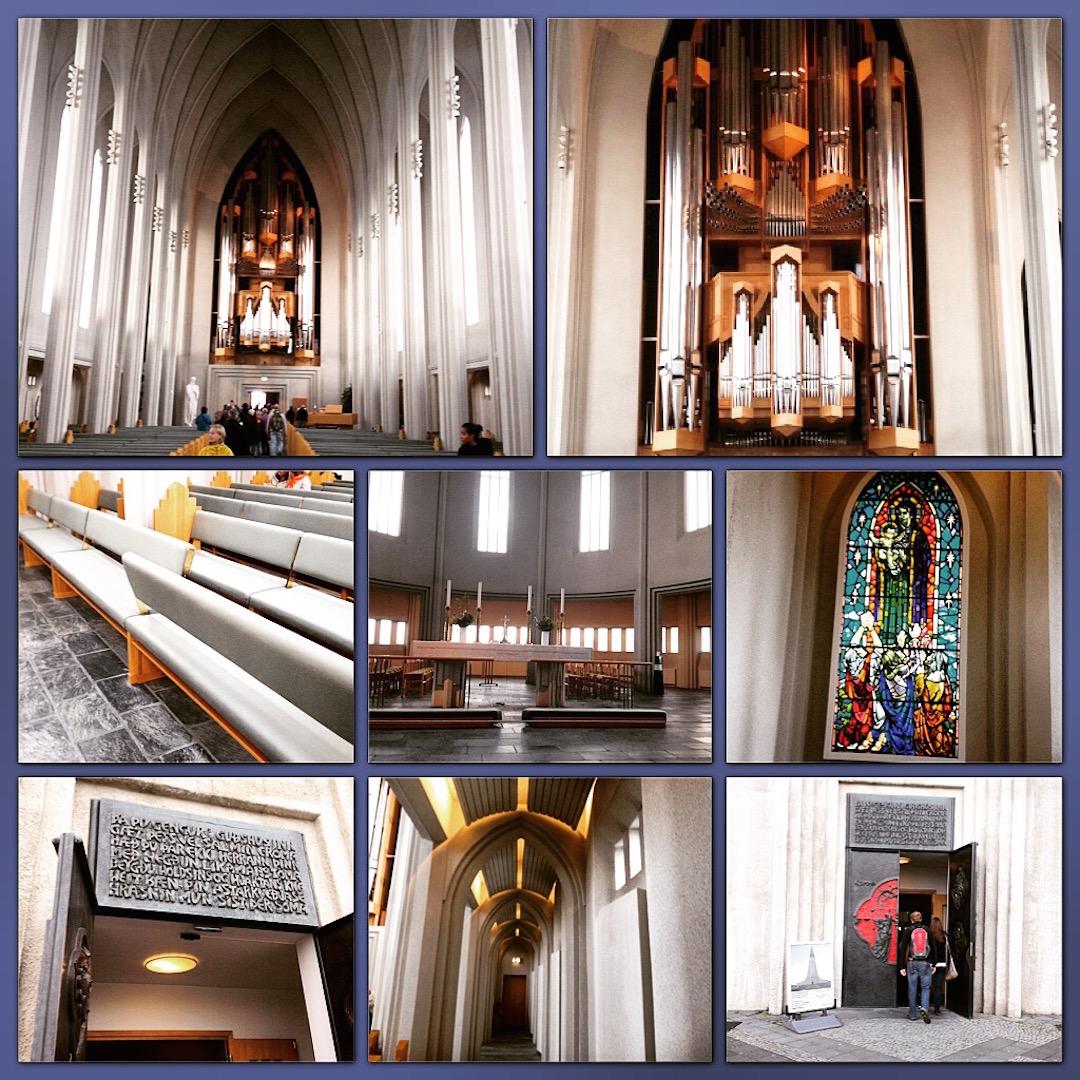 Best Postcards of Hallgrimskirkja and Harpa Concert Hall in Reykjavik Iceland