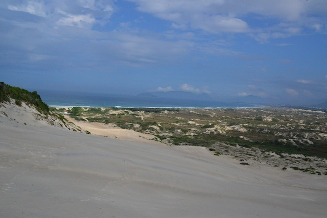 Sandboarding beach in Florianopolis