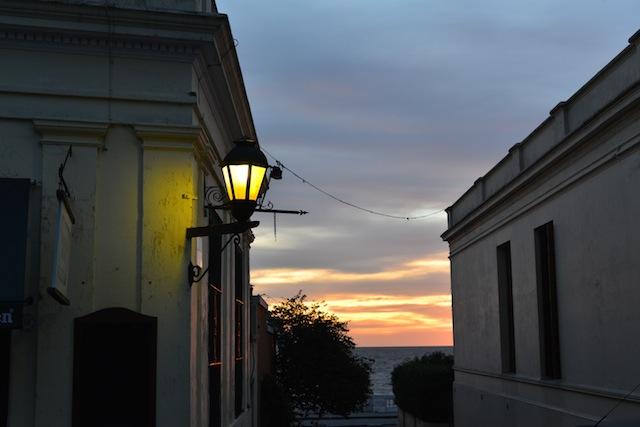 Sunset in barrio historico