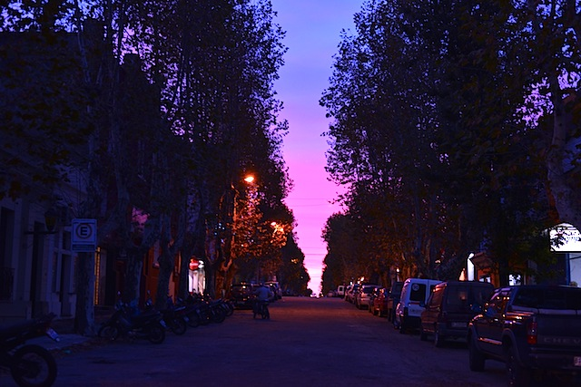 Shades of pink during sunset in Colonia