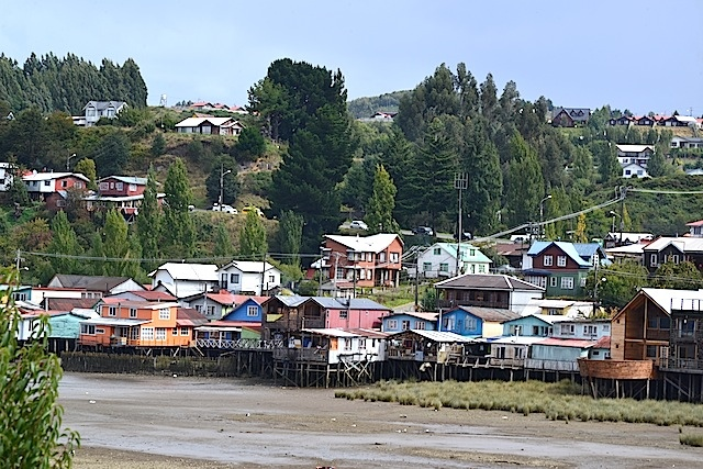 The palafitos (stilt houses) in Chiloe Chile