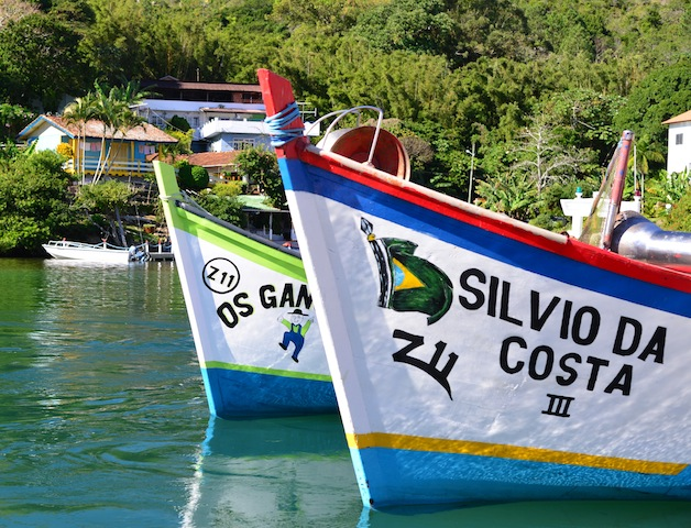 Fishing boats in Florianopolis