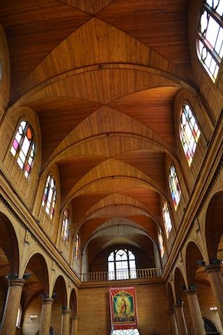 Inside the Church of San Francisco in Castro Chiloe, Chile