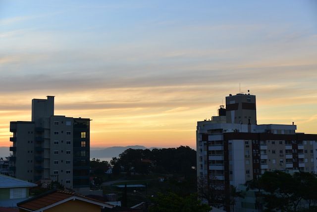 View from the apartment in Florianopolis