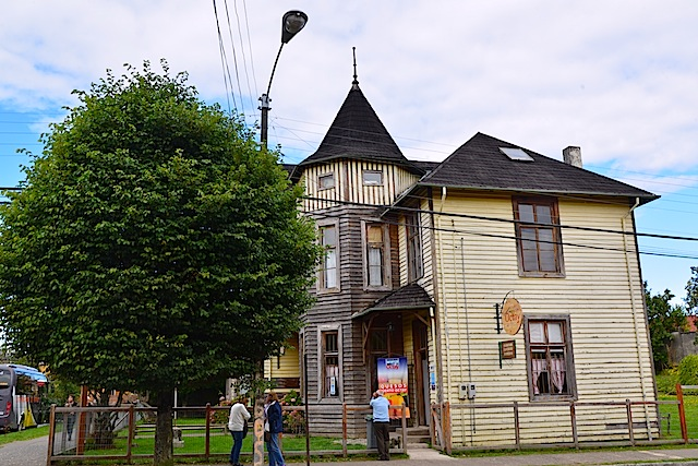 Historic wooden building in Puerto Octay Chile