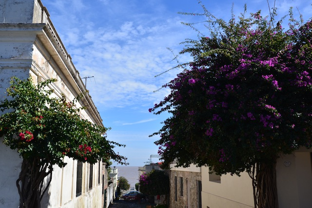 Barrio Historico Colonia del Sacramento. The place is usually deserted after the day trippers leave for Buenos Aires.