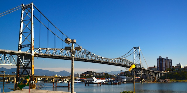Hercilio Lux Bridge in Florianopolis