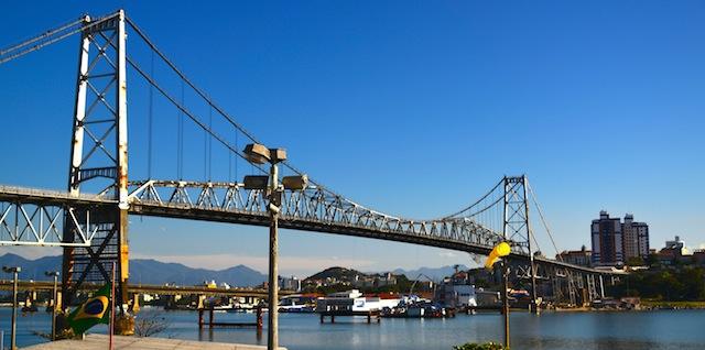 Hercilio Lux Bridge in Florianopolis