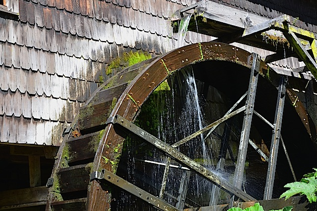 The watermill at Aleman Museum Frutillar