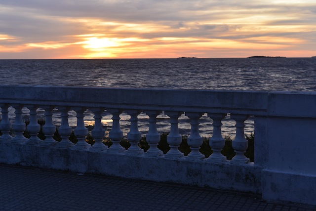 Sunset at Rio de la Plata, the river separating Colonia del Sacramento and Buenos Aires.