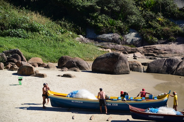 Recreational fishing in Florianopolis
