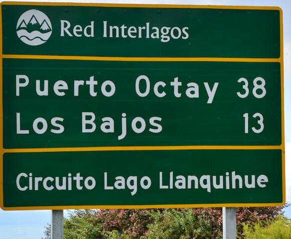 Road sign in Frutillar
