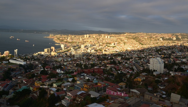 View of Valpo and Vina del Mar from the balcony