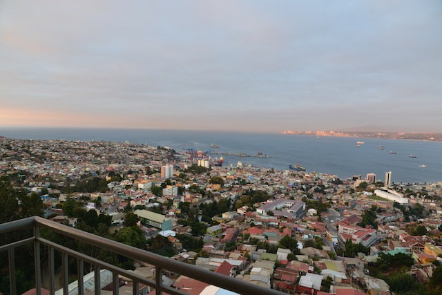 View from the AirBnB apartment in Valparaiso