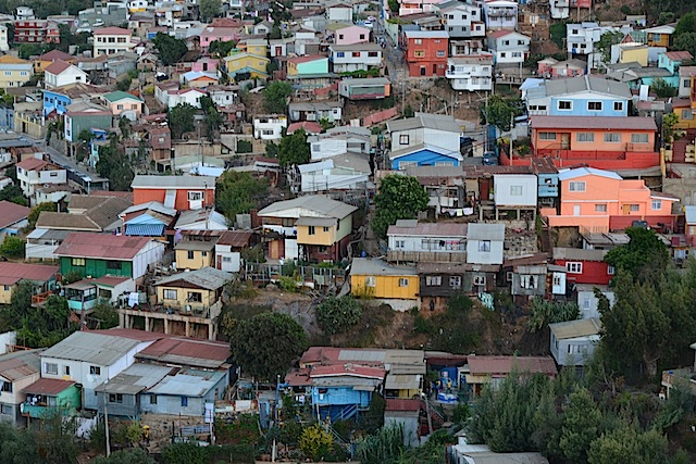 Houses on the hill in Valparaiso